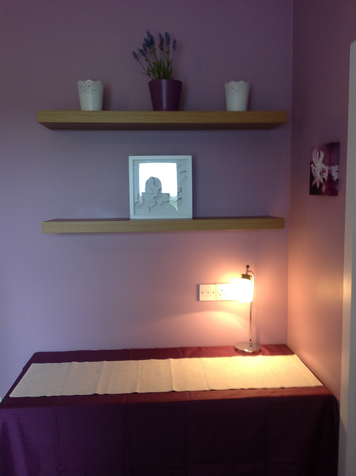 Purple Room Finishing Touches